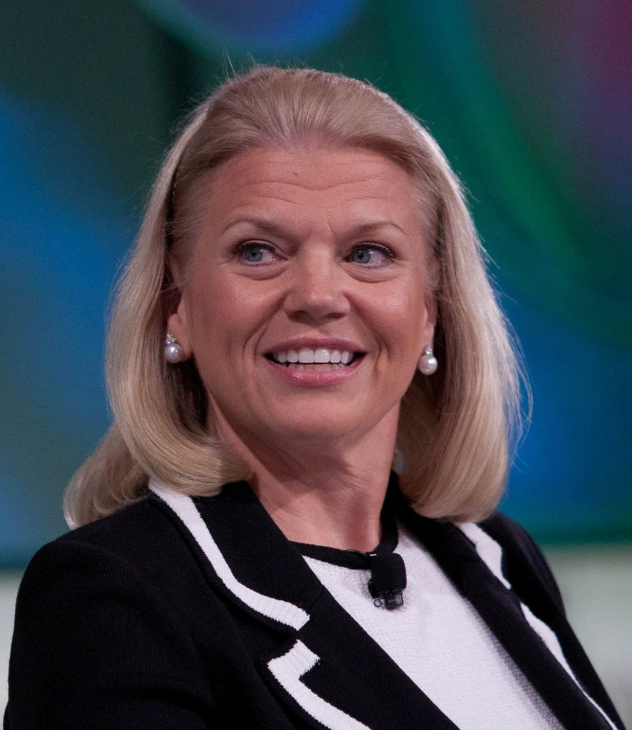 this picture shows ginni rometty chairmain ceo president of ibm